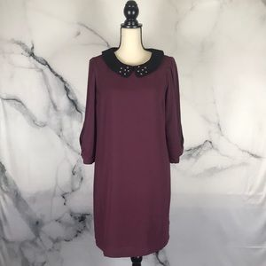 LC Lauren Conrad 3/4 sleeve collared lined dress